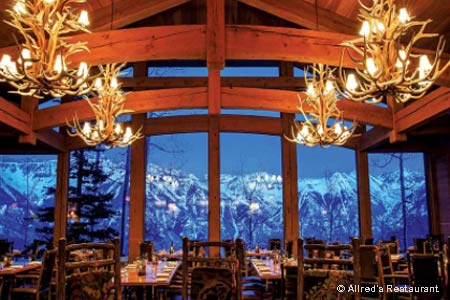 Take the gondola to this fine dining establishment and join the après-ski crowd for sophisticated food and wines.