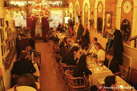 Owner Pawel Strozynski runs this delightful Viennese-style café near downtown Ann Arbor, offering fine dining and a wide selection of wines.