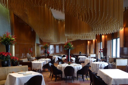 Amber is the signature restaurant of The Landmark Mandarin Oriental, Hong Kong hotel