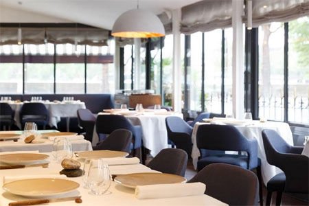 Dining room at Antoine, Paris, france
