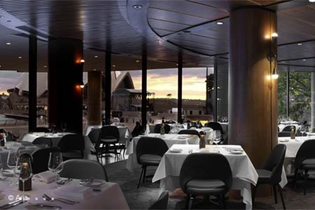 ARIA offers panoramic views of Sydney's bridge, opera house, the harbor and busy Circular Quay.