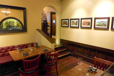 Dining room at Arlington Tavern, Santa Barbara, CA