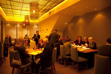 The dining room at Atelier Crenn in the Marina