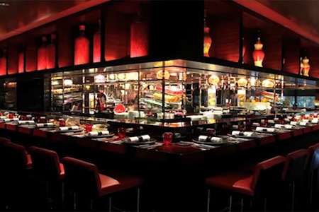 Dining room at L'Atelier de Joel Robuchon, Central, hong-kong