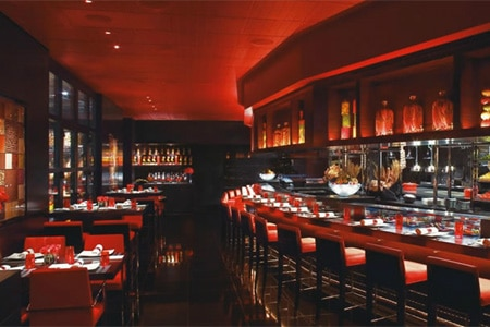 Dining room at L'Atelier de Joël Robuchon, Las Vegas, NV