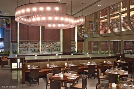 Dining room at Aureole, New York, NY