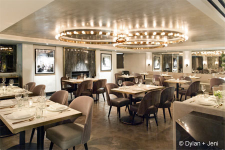A modern French bistro at Viceroy L'Ermitage Beverly Hills.