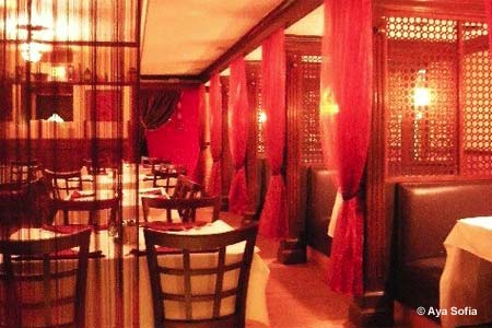 A Turkish spot with a warm dining room and cozy booths offers Mediterranean favorites.