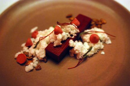 A delicate dessert from Aziza in the Richmond District