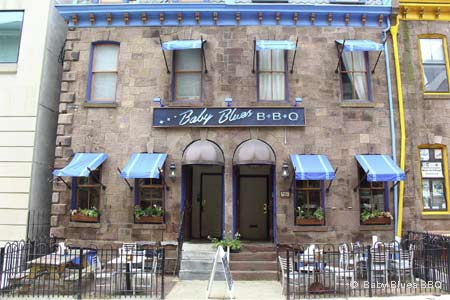 Baby Blues BBQ offers an array of options, including ribs, pulled pork, beef brisket and smoked chicken.