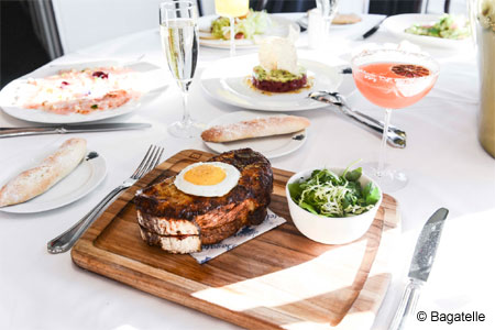 Indulge in a crab croque monsieur at Bagatelle, one of GAYOT's Top 10 Brunch Restaurants in the U.S.