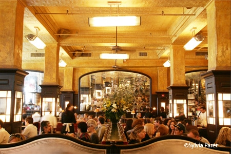 Dining room at Balthazar Restaurant, New York, NY