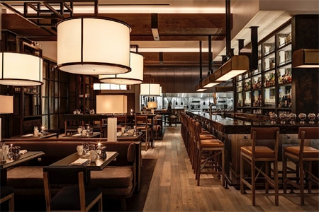 Loews Philadelphia Hotel updates its restaurant with new takes on American classics and an extensive bourbon program.