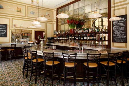 Dining room at Bar Bouchon, Beverly Hills, CA