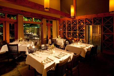 Destination restaurant for Northwest cuisine paired with wine country drinks.
