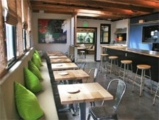 Dining room at Barnyard, Venice, CA