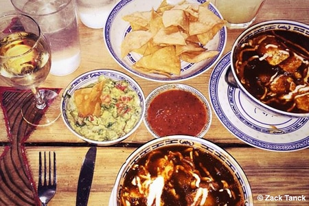 Enjoy creative Mexican food at Barrio Chino, one of GAYOT's Top 10 Mexican Restaurants in New York