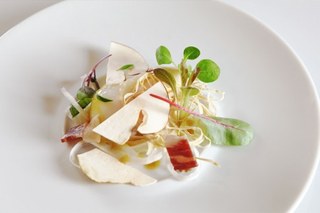 At Baumé, there is a seamless balance between molecular gastronomy and modern French cuisine
