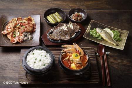 A favorite, busy spot for Korean tofu casserole.