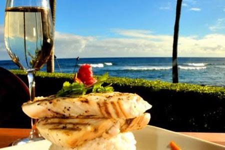 Beach House Restaurant in Koloa features one of the best resteaurant patios on Kauai, Hawaii