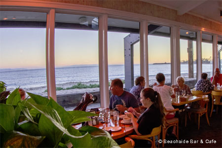 Beachside Bar & Café's oceanfront location is prime for summer noshing.