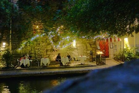 Romance awaits a few steps above the River Walk at Bella on the River restaurant in San Antonio