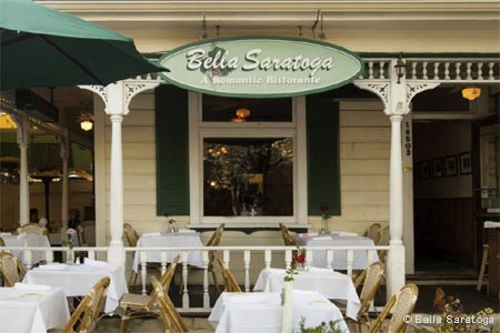 Set in an old Victorian with ample outdoor seating, dining here is casually charming and unhurried.