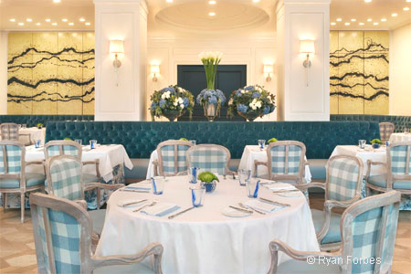 Dining room at The Belvedere, Beverly Hills, CA
