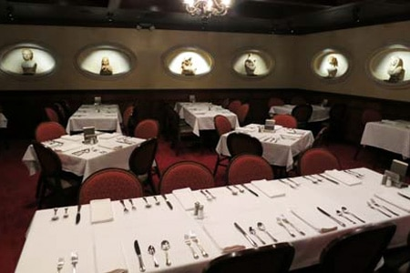 Bern's Steak House restaurant in Tampa Bay offers great steaks and wine