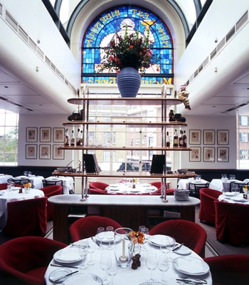 Dining room at Bibendum, London, UK
