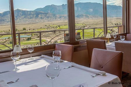 With its mountain views, Bien Shur is one of GAYOT's Best Romantic Restaurants in Albuquerque