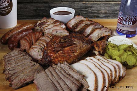 Enjoy some of San Antonio's best barbecue at The Big Bib BBQ