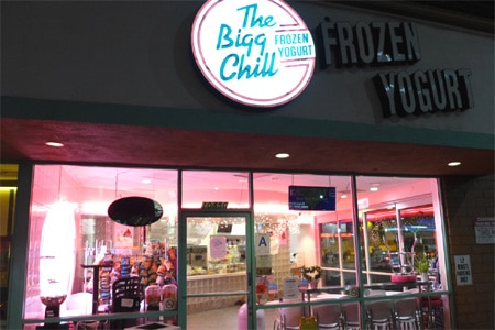 The Bigg Chill is a longtime mecca for soft-serve frozen yogurt fans in Los Angeles