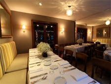 Dining room at Bistro 45, Pasadena, CA