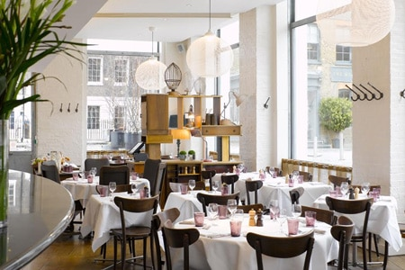 Dining room at Bistrot Bruno Loubet, London, UK