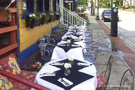 Dining Room at Le Bistro Du Village, Baltimore, MD