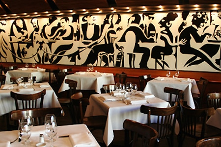 Dining room at Bistro Moncur, Sydney, australia