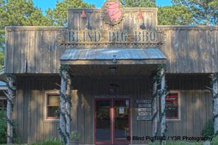 Dining Room at Blind Pig BBQ, Jackson, GA