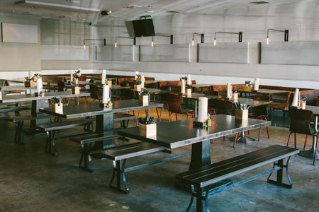 Dining room at Bludso's Bar-&-Que, Los Angeles, CA