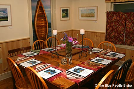Dining Room at The Blue Paddle Bistro, South Hero, VT