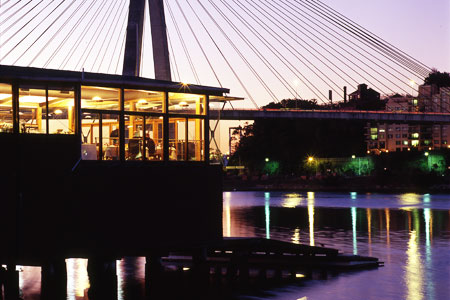 Dining room at The Boathouse on Blackwattle Bay, Sydney, australia