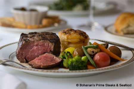 Bohanan's Prime Steaks & Seafood, one of GAYOT's Best Steakhouses in San Antonio
