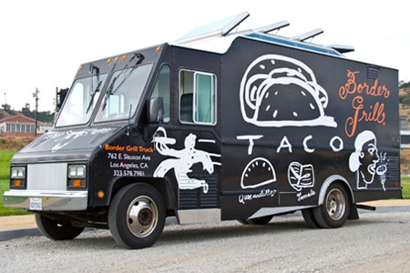 A food truck serving tacos and quesadillas from chefs Mary Sue Milliken and Susan Feniger.