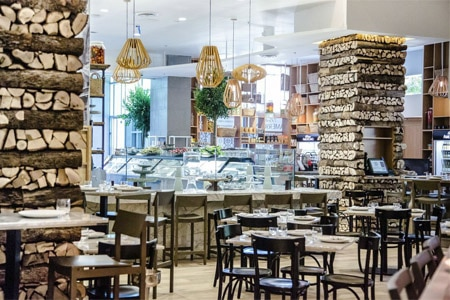 Bottega Americano in San Diego is a European-style marketplace and chic restaurant