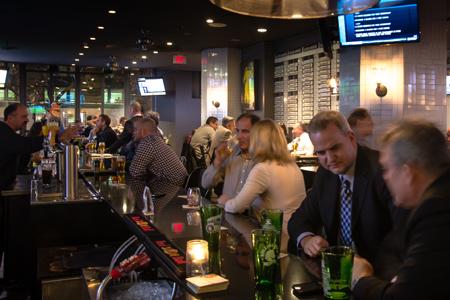 Dining Room at Bottom Line, Toronto, ON