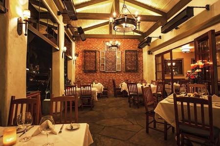 Santa Barbara and Central Coast cuisine complemented by local wines.