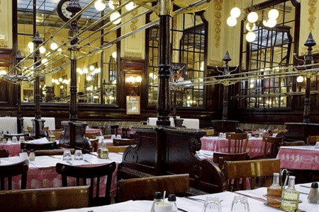 Dining room at Bouillon Chartier, Paris, france