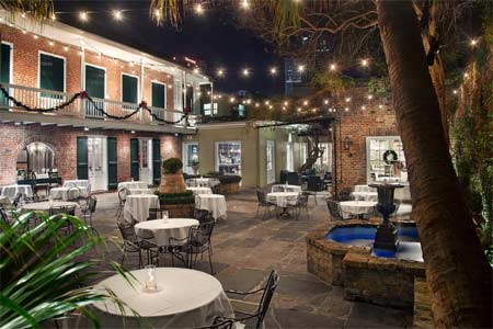 The patio of Broussard's, one of GAYOT's Best Outdoor Dining Restaurants in New Orleans