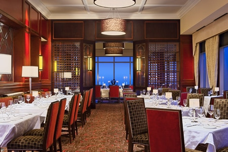 Located in the Waldorf Astoria Orlando, Bull & Bear is exactly how you would imagine a classic steakhouse