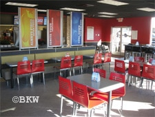 Dining room at Burger King, Albany, NY